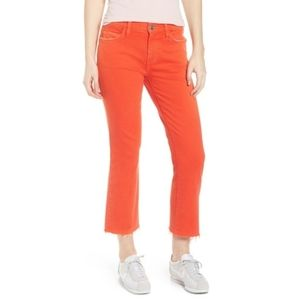 CURRENT/ELLIOTT The Kick Raw Hem Jeans Orange